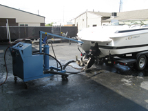 dynamometer hooked to boat