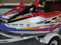 jet ski Finished with new paint and decals