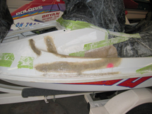 jet ski Hull repair in-progress