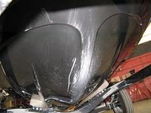 Severe scoffing bottom of hull