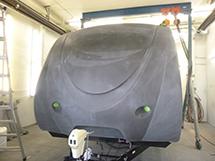 RV trailer cap gelcoat repair