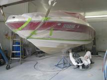 Prepping the bottom for new bottom paint