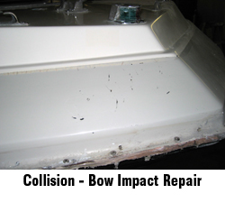 bow impact collision repair