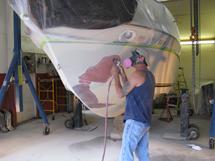 Extensive gelcoat repair