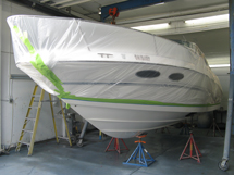26′ Sea Ray ready for VC Epoxy application