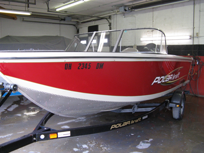 Aluminum boat new paint and graphics