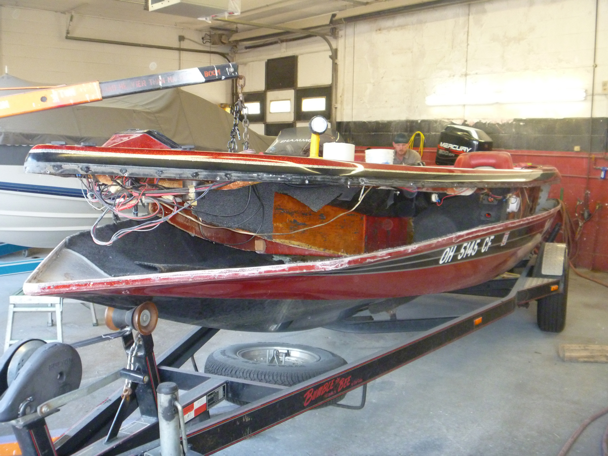 New Transom Stringers And Floor Starboard Marine Repair
